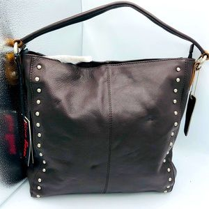 NWT NINO BOSSI STUDDED  HOBO BAG